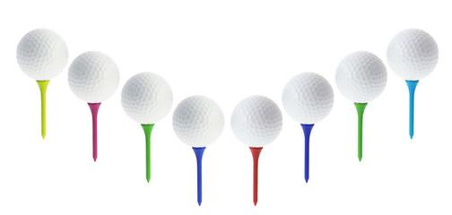 Golf Balls on Tees