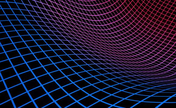 Grid background blue red on black 04