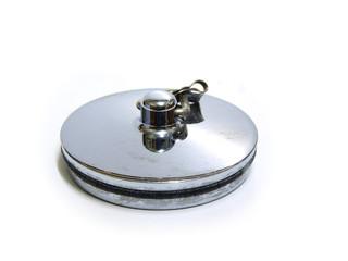 Metal sink or bath plug