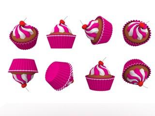 Pink Soft Muffins
