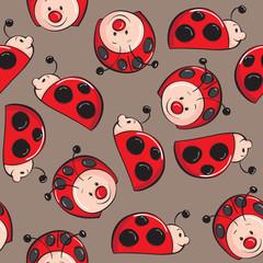 Seamless pattern - Ladybugs