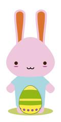 easter bunny kawaii style for season