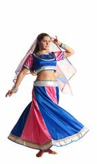 Woman dance in motion - oriental arabian costume
