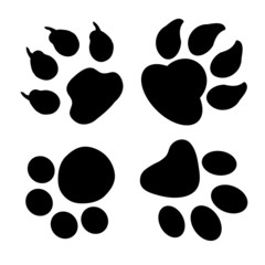 Paw print collection for design