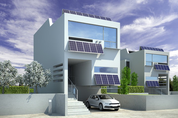 Contemporary Solar House Architecture
