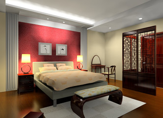 a chinese style bedroom design