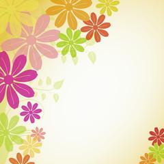 Blumenhintergrund - Vorlage für eigenen Text