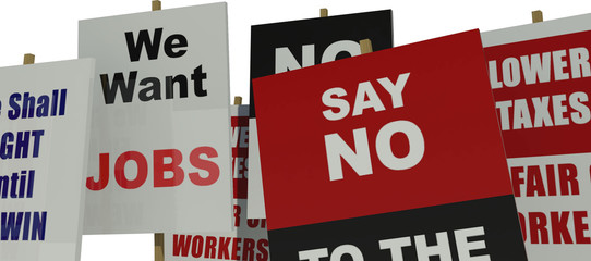 Public protest banners