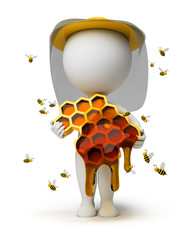 3d small people - beekeeper