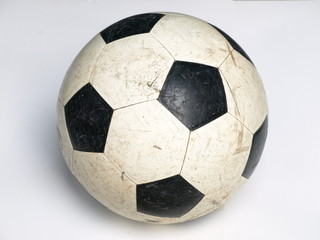 old football on white blackground