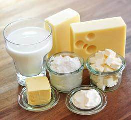 Foto auf AluDibond Milchprodukt Käse, Quark