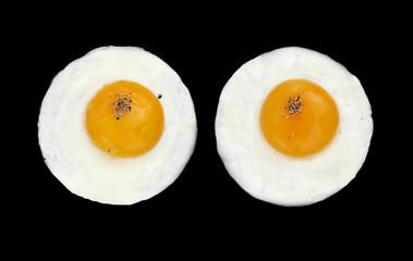 Fond de hotte en verre imprimé Ouf Fried eggs like eyes