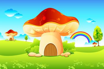 Photo sur Plexiglas Monde magique Mushroom Garden