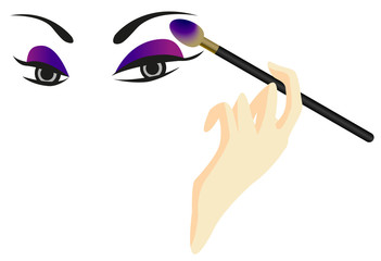 Eyes Sketch with Make Up