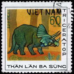VIETNAM - CIRCA 1978 Triceratops