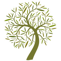 ornate green tree