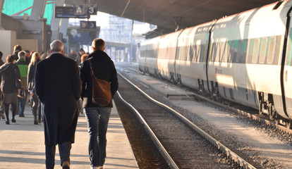 transport ferroviaire...gare