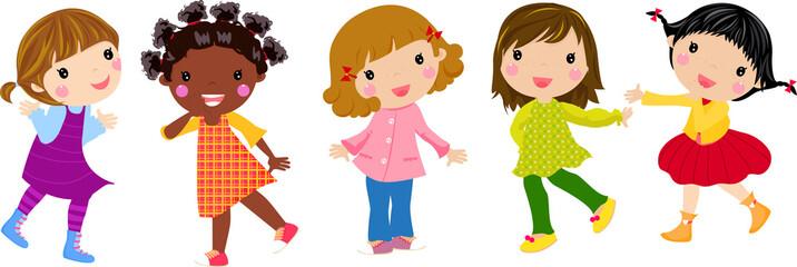 five little girls