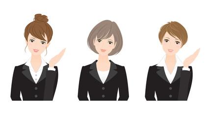 可愛い女性社員