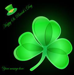 St. Patrick's Day card. Vector illustration