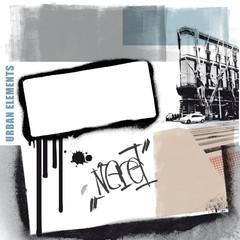 urban graffiti elements