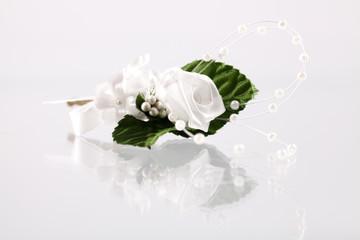 gebastelte Rose als Dekoration