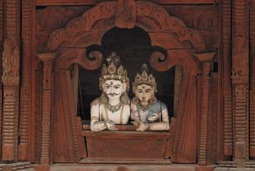 Siva and Parvati , Hindu Gods in Kathmandu 1.jpg