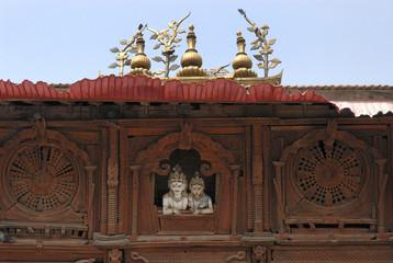 Siva and Parvati , Hindu Gods in Kathmandu 3.
