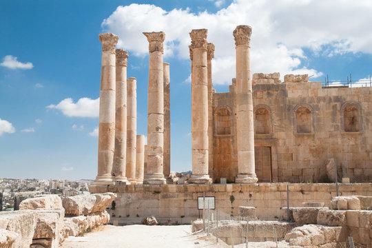 Temple of Zeus in Jerash, Jordan