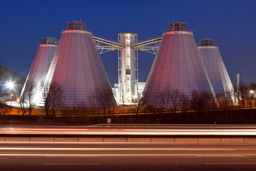 Biogasanlage-Faultürme-Ökologische Energiegewinnung