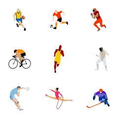 Collection of kinds of sport. Vector