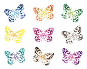 Schmetterlinge Silhouette