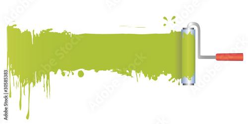 streichen mit farbroller stockfotos und lizenzfreie vektoren auf bild 30585383. Black Bedroom Furniture Sets. Home Design Ideas