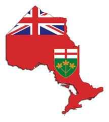 Fototapete - Ontario map flag