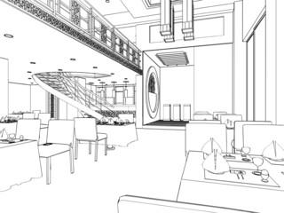 Modern Restaurant Vector 04
