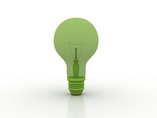 Green Electronic Bulb