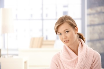 Attractive woman warm sweater