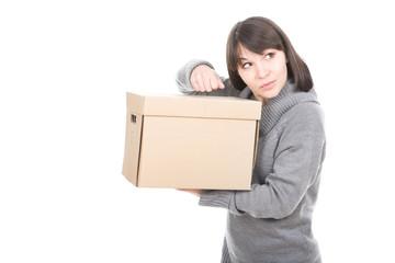 woman with cardbox
