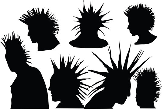 70s-80s punk rock hairstyle, urban culture
