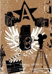 vintage camera film set poster