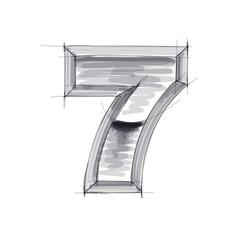 3d metal figure sketch - 7. Eps10