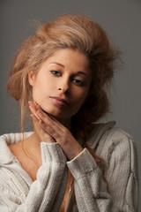 Portrait of a calm beautiful woman