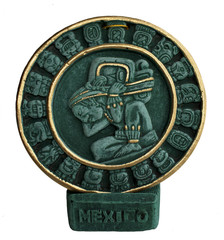 Ethnic plate from ceramics isolated. Mexico