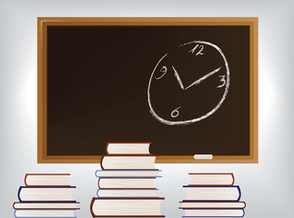 vector image of school blackboard