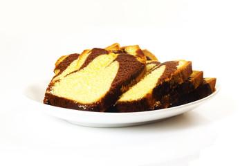 süße Backwaren auf weißem Hintergrund/ Sweet pastries on white b