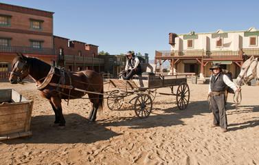 Western Town Film set at Mini Hollywood Spain