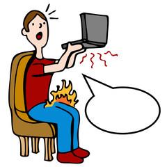 Hot Overheating Laptop