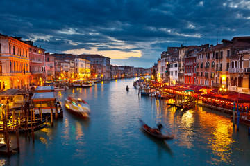 Fotomurales - Grand Canal at night, Venice