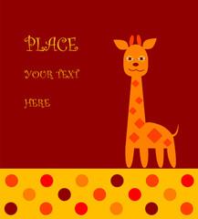 Postcard of the giraffe