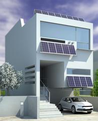 Contemporary Solar House Architecture (focus)